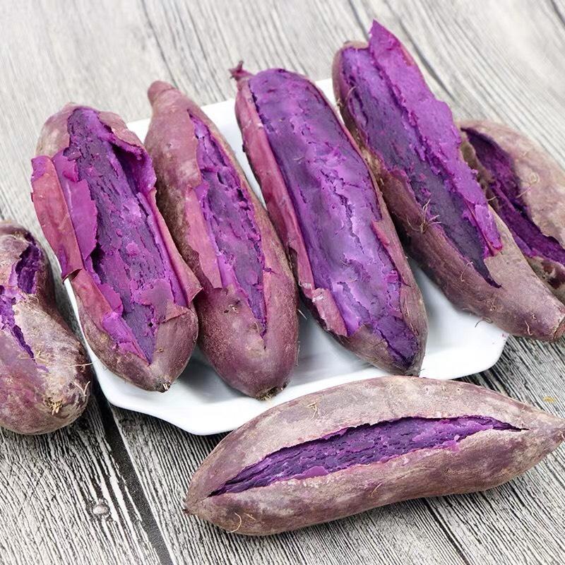 [紫薯批发]2020年新鲜紫薯尝鲜价 现货发售 现挖现发带箱10斤小紫价格1.8元/斤