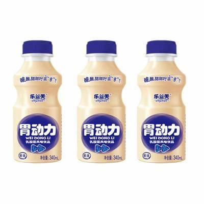 山東省青島市即墨市牛奶 胃動力340ml*12瓶乳酸菌兒童學生飲料原味整箱批發 風味