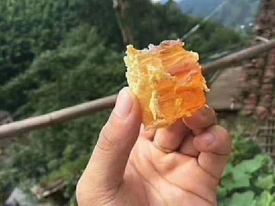 河南省許昌市長葛市 蜂巢蜜天然農家自產荊條蜜深山巢蜜純正嚼著吃的蜂蜜半斤盒裝蜂巢