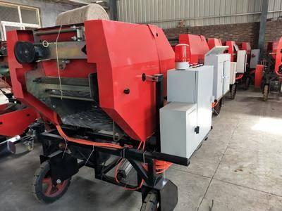 山東省德州市寧津縣飼料打捆機 全自動半自動包膜打捆機