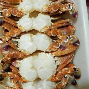 梭子蟹 凍去殼扁蟹排 肉蟹,肉質肥嫩飽滿,鮮甜可口