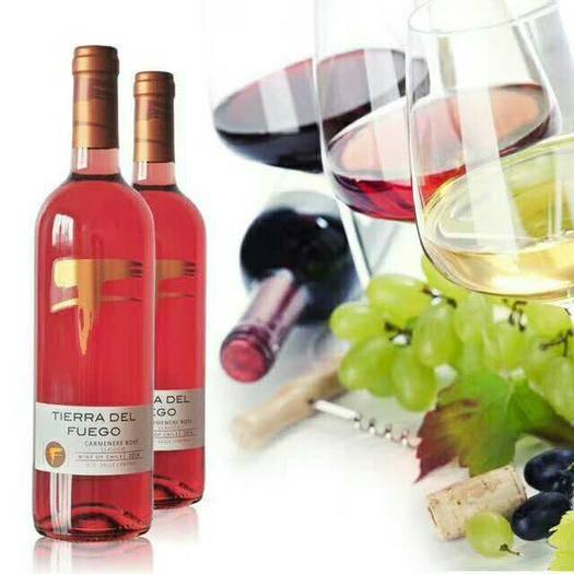 上海市嘉定區 智利火地島經典卡曼尼半甜桃紅葡萄酒原瓶原裝進口紅酒