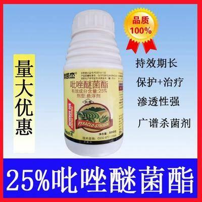 廣東省汕尾市陸豐市吡唑醚菌酯 25%500克接納出口質料,先進加工工藝研磨。和增效助劑