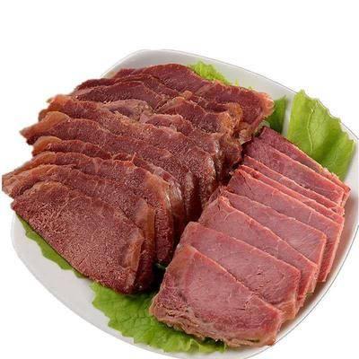 河南省三門峽市湖濱區牛肉干 五香熟牛肉2斤裝200克*5包無淀粉純肉無湯汁熟食下酒菜真空