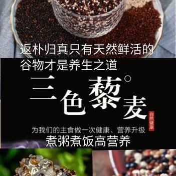 三色藜麥米高活性米航天專用米粗糧米煮飯煮粥米二斤一袋包郵