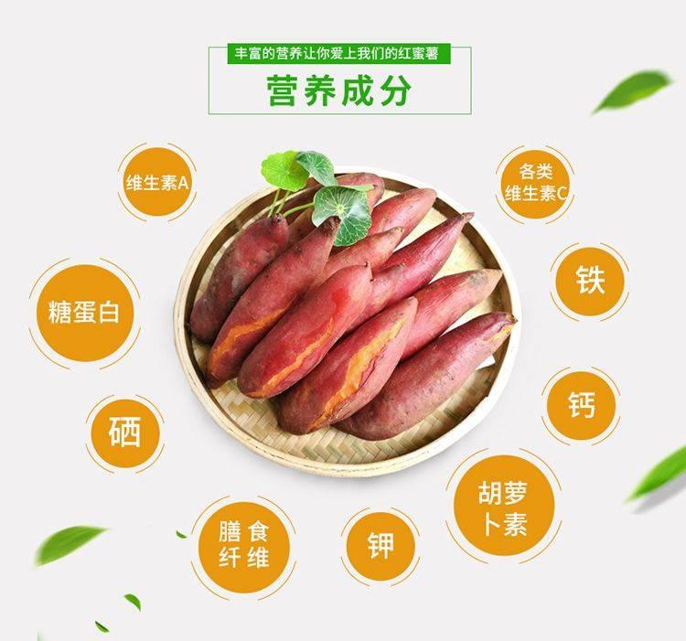 福建六鳌地瓜沙地西瓜红红蜜薯5斤装散装粉糯香甜