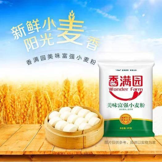 河北省石家庄市井陉县 『5包』香满园面粉美味富强小麦粉5kg/5包 中筋面粉包子