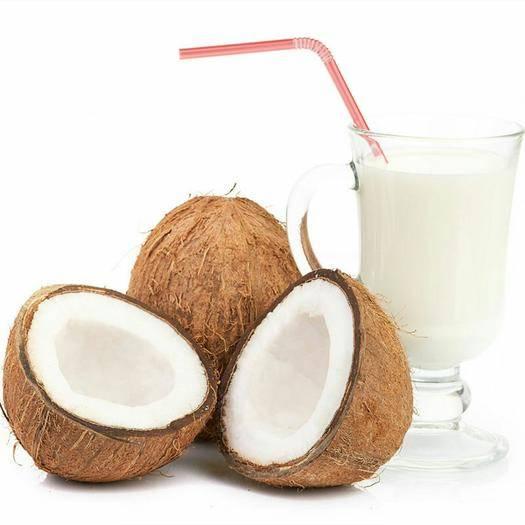 山西省太原市古交市 海南特产老椰子4个装新鲜水果孕妇美容毛椰原味去皮椰青椰