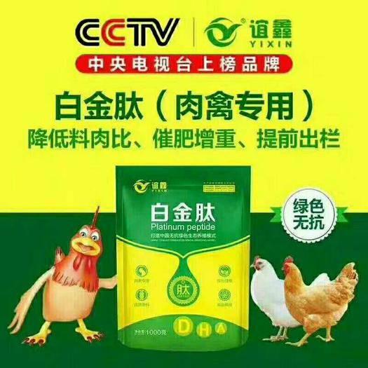 上海市闵行区 肉禽白金肽鸡鸭鹅提前出栏长势好
