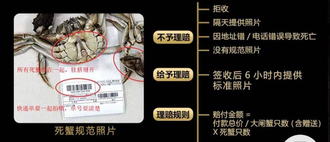 阳澄湖大闸蟹,二两五母三两五公4对装只要118,限购两份
