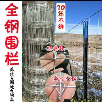 护栏网/围网 热镀锌钢网果园网鸡鸭鹅牛羊鹿网香猪网圈山地铁丝网荷兰网出口级