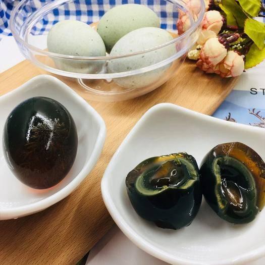 江蘇省連云港市海州區 超大松花皮蛋無鉛溏心花皮蛋變蛋60-80克 4枚10枚