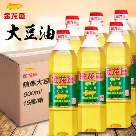 上海市普陀区 金龙鱼纯正大豆油900mL精炼一级食用油