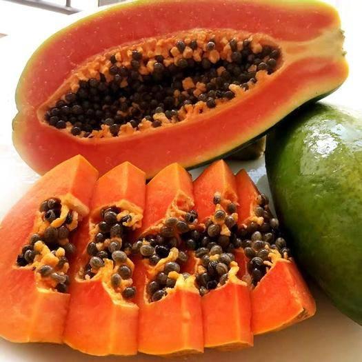 廣西壯族自治區南寧市興寧區 新鮮紅心木瓜,10斤裝,通貨混裝