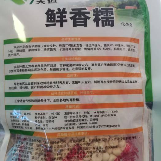 河南省商丘市夏邑縣 鮮香糯玉米種子