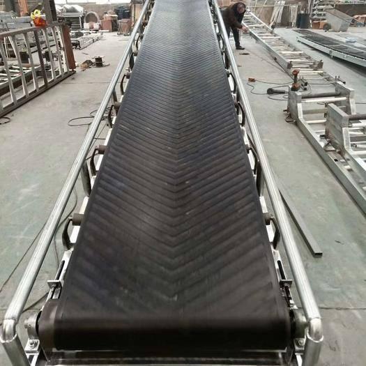 安徽省合肥市包河區 輸送機傳送帶電動升降可移動裝卸車貨物拋糧食爬坡防滑皮帶傳送
