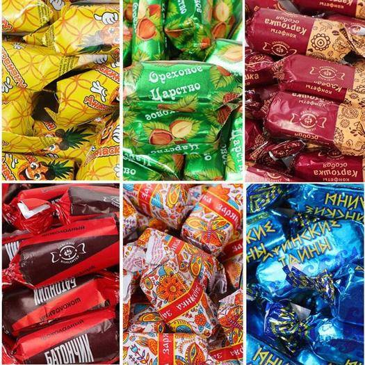 黑龍江省哈爾濱市道外區 5種土豆糖混搭俄羅斯原裝進口混合裝巧克力糖果土豆榛仁糖果混