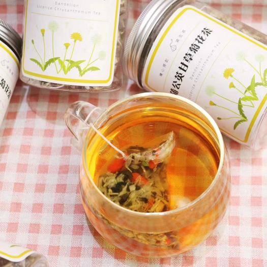 广东省广州市越秀区 精选 蒲公英甘草菊花茶 袋泡茶 瓶装 十袋一瓶