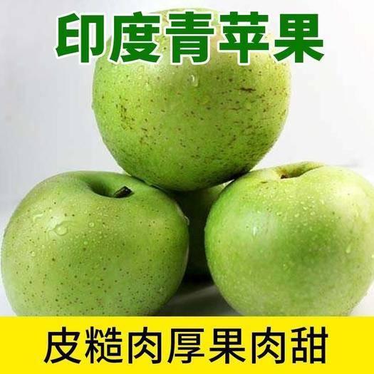 河北省石家莊市晉州市 正宗印度青蘋果脆甜多汁大量供應中冷庫貨馬蹄形年后發貨
