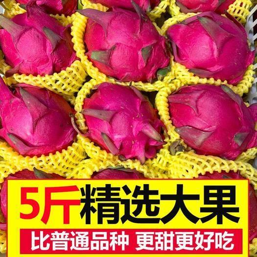 广西壮族自治区崇左市大新县 越南红心火龙果五斤包邮中大果单果(300-450)克