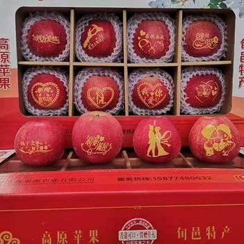 今日秒殺新春系列平安圣誕元旦新春快樂帖字蘋果 專屬送禮佳品