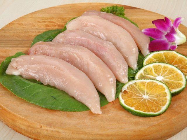 [鸡胸肉批发]鸡胸肉 按吨发。鸡胸大胸小胸单冻冰鲜胸碎胸皮价格7元/箱