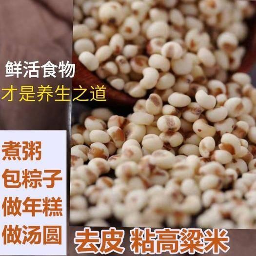 河北省唐山市迁安市 粘高粱米去壳白高粱红高粱纯天然鲜活好谷物5斤一袋包邮