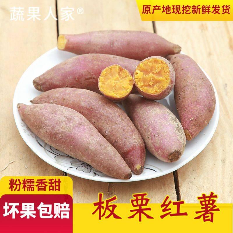 [红薯批发] 现挖新鲜红薯农家自种沙地板栗红薯黄心粉糯香甜番薯地瓜山芋地瓜价格10.9元/箱