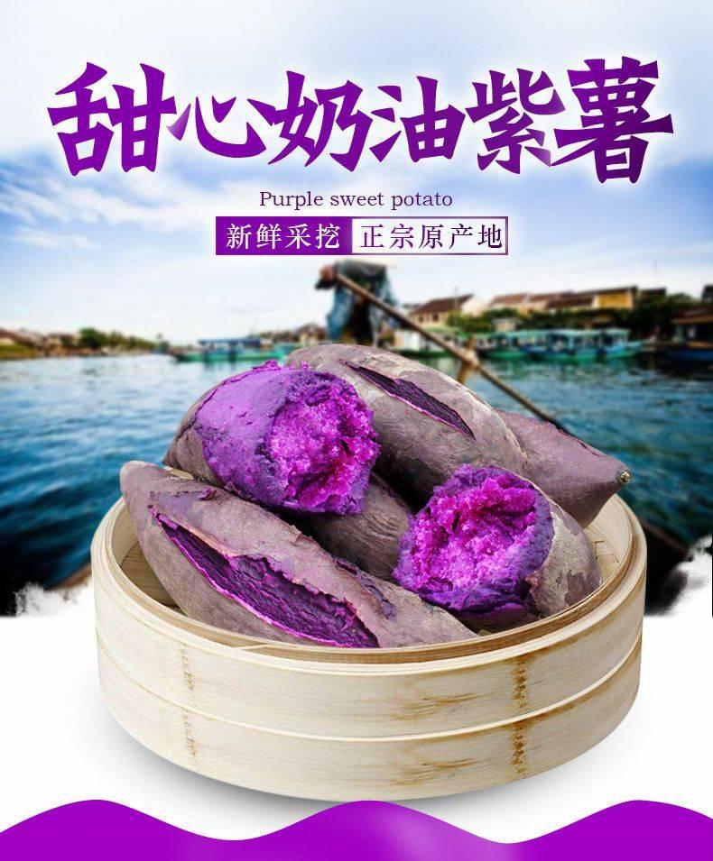 [紫罗兰紫薯批发] 新鲜紫薯当季番薯现货2斤5斤9斤云南特产紫薯包邮价格12.9元/箱