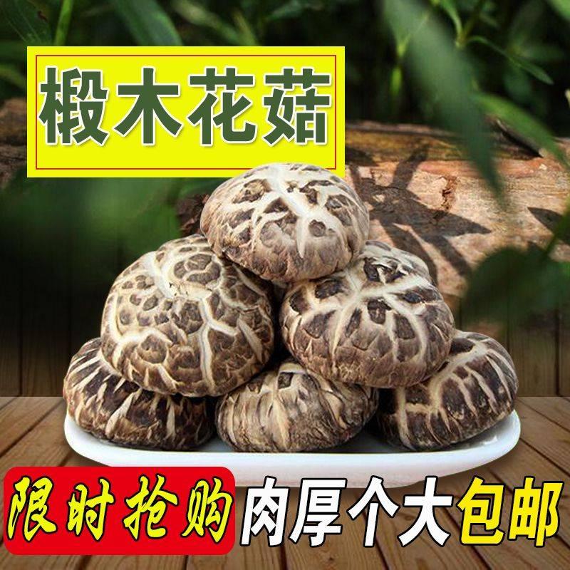 [花菇批发] 【大花菇500g】个大肉厚椴木花菇 香菇干货 干香菇冬菇包邮价格28元/袋