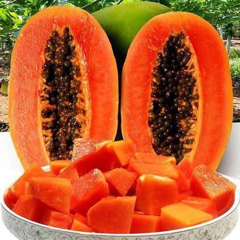 [云南绿禾冰糖心牛奶木瓜]热现摘现发当季应季水果5斤8斤包
