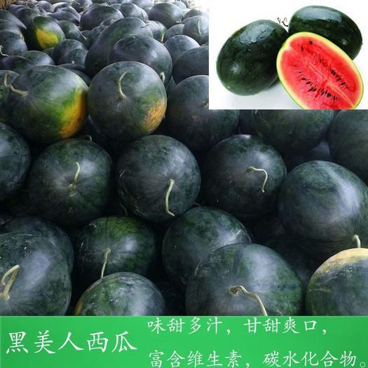 陜西省寶雞市渭濱區 新疆黑美人西瓜冰糖瓜包郵