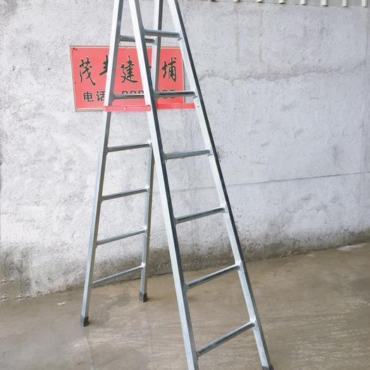 廣東省潮州市饒平縣 人字梯加厚鍍鋅鋼管梯家用鐵梯子2.米3米工程梯閣樓折疊爬梯