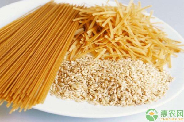 吃米和吃面的对比