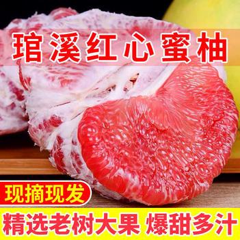 【现货速发】红心柚福建平和琯溪蜜柚红肉蜜柚红柚5/10斤包邮