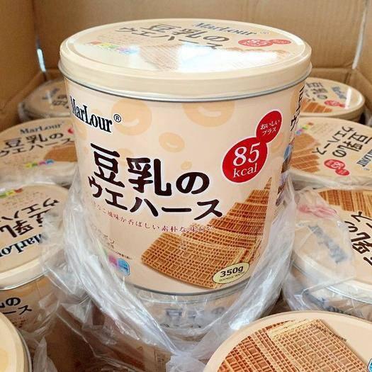 金華義烏市 小紅書推薦萬寶路豆乳威化餅干桶裝350g罐裝零食茶點心包郵
