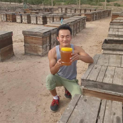 中卫中宁县 自家养蜂枣花蜜42度高浓度蜂蜜保质量无添加2斤批发包邮