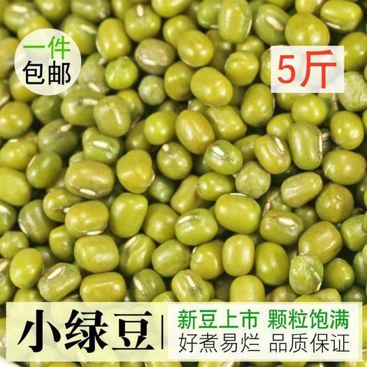 貴陽 綠豆2019年新鮮農家小綠豆笨綠豆夏天綠豆湯綠豆沙綠豆糕5斤