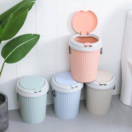 杭州余杭区分类盒 家用大号有盖分类干湿垃圾桶客厅卧室厕所卫生间厨房可爱欧式带弹