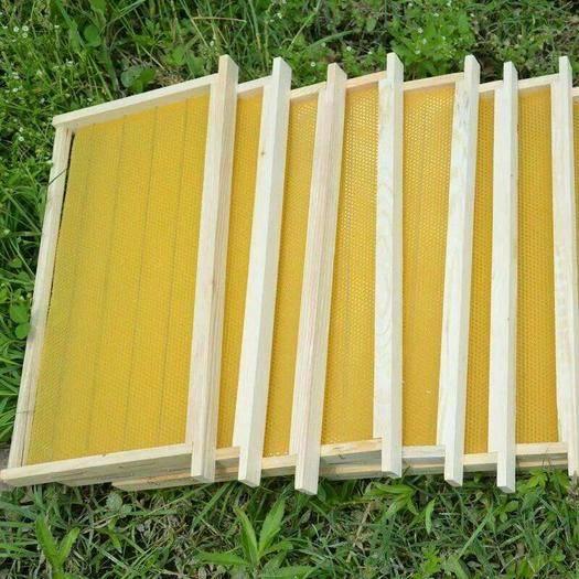 许昌长葛市巢础 成品巢框,意蜂,建巢快质量好,批零