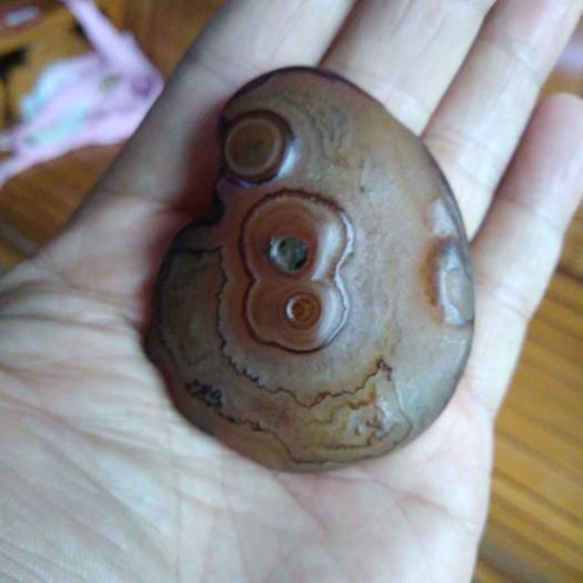 廣州從化區 夭然形象文字石,瑪瑙。