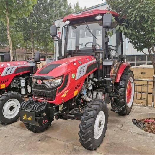 新泰市輪式拖拉機 全新泰山農用四驅四輪拖拉機,配套多種農機設備帶駕駛室國補機型