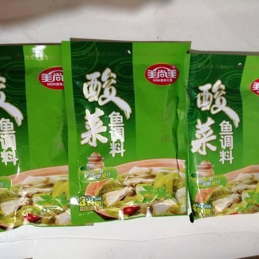 云南省曲靖市麒麟区水煮鱼料 美尚美酸菜鱼调料350g  30袋