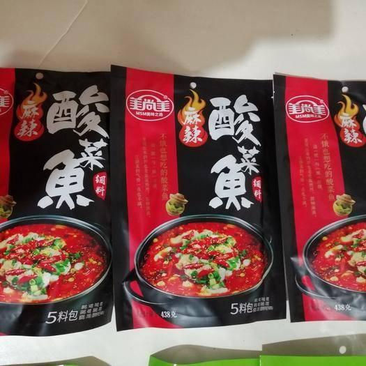 云南省曲靖市麒麟区水煮鱼料 美尚美麻辣酸菜鱼438g   4一6kg鱼调料包 30袋