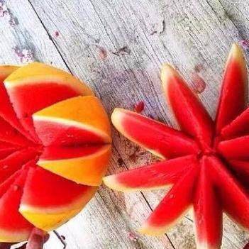 金玲西瓜种子 红太阳红瓤黄皮礼品瓜种子