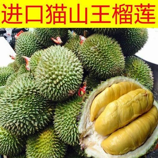昆明官渡区 泰国猫山王榴莲新鲜当季现摘整个带壳水果2-10斤包邮