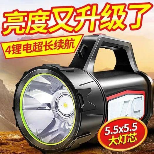 东阳市 强光手电筒充电灯超亮远射led手提探照户外5000大功率家
