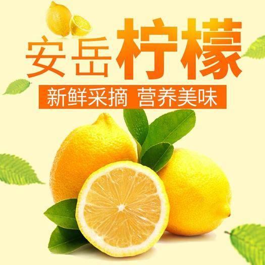 资阳安岳县 四川安岳当季新鲜黄柠檬2/5/10斤装 皮薄多汁美白减肥泡