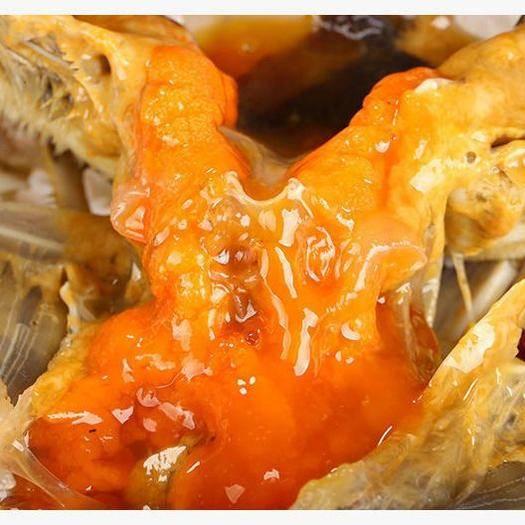 宁波红膏蟹 红膏炝蟹6两左右/只醉蟹红膏梭子蟹宁波海鲜特产海鲜腌制螃蟹