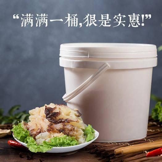 招遠市 4斤裝鹽漬海蜇頭和海蜇絲鹽漬非即食海蜇桶裝包郵